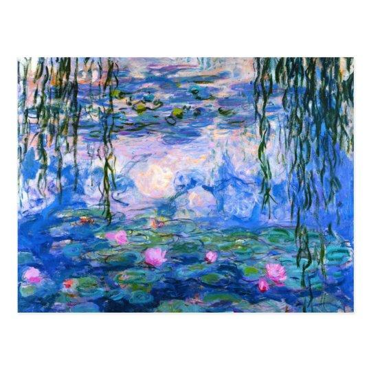 Monet Water Lilies Postcard