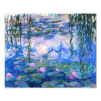 Monet Water Lilies Print Photo