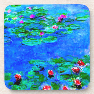 Monet: Water Lilies Red artwork Coaster