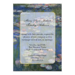Monet Water Lilies Wedding Invitation