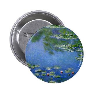 Monet Water Lillies 6 Cm Round Badge