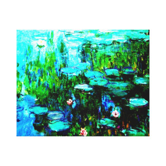 Monet Water Lillies Canvas Canvas Print