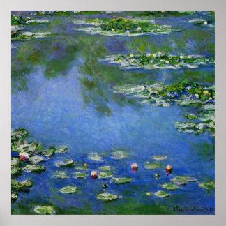 Monet Water Lillies Poster