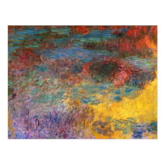 Monet Water Lily Pond Evening Postcard