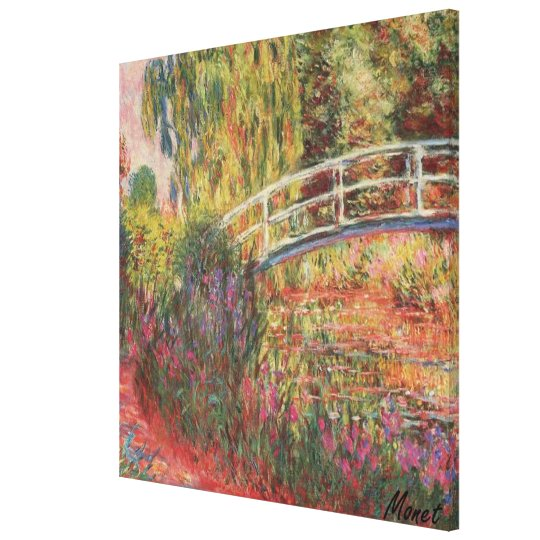 MONET Water Lily Pond IRISES  Stretched Canvas Art