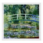 Monet - Water Lily Pond & Japanese Bridge Poster