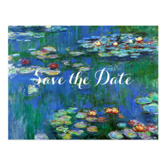 Monet Water Lily Pond Save the Date Postcard
