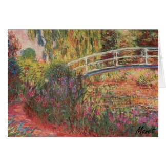 MONET Water Lily Pond: Water Irises Note Card