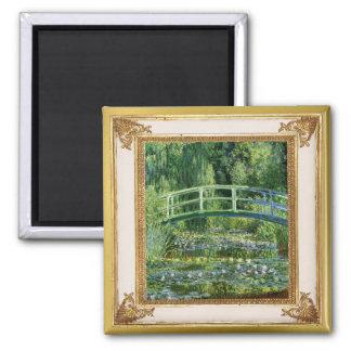 Monet Waterlilies and Bridge Masterpiece Magnet