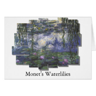 Monet Waterlilies mesh design Greeting Card