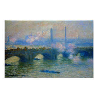 Monet: Waterloo Bridge in London by Claude Monet Poster
