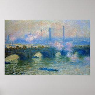 Monet: Waterloo Bridge in London by Claude Monet Poster