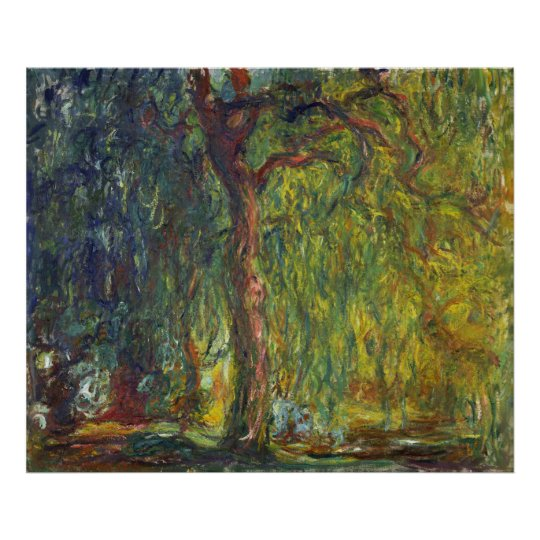 Monet, Weeping Willow Poster