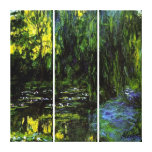 MONET WEEPING WILLOWS  Stretched Canvas Print