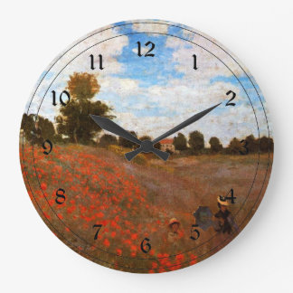 Monet - Wild Poppies Wallclocks