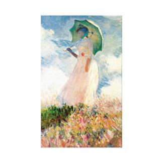 Monet Woman With A Parasol Canvas Prints