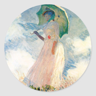 Monet Woman With A Parasol Stickers