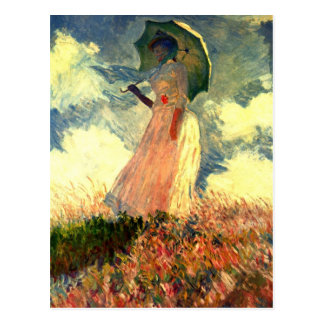 Monet Woman With Sunshade Post Card