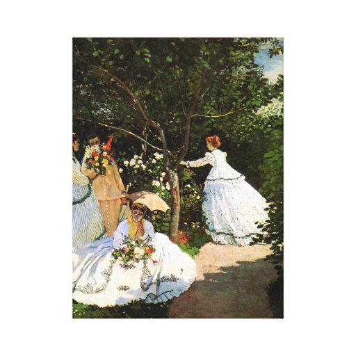 Monet Women in the Garden Canvas Prints