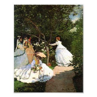 Monet Women in the Garden Art Photo