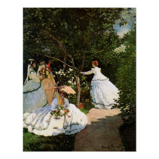 Monet Women in the Garden Poster