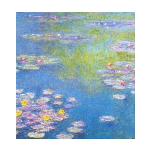 Monet Yellow Water Lilies Canvas Prints
