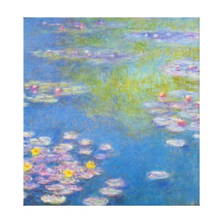 Monet Yellow Water Lilies Canvas Print