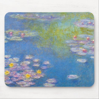 Monet Yellow Water Lilies Mouse Pad