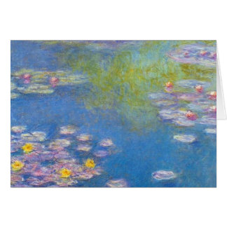Monet Yellow Water Lilies Note Card