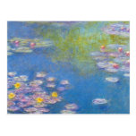 Monet Yellow Water Lilies Postcard