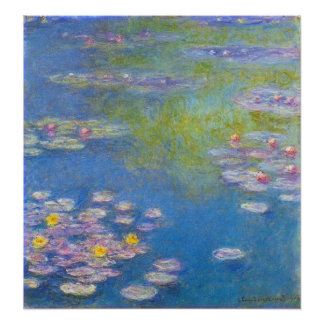 Monet Yellow Water Lilies Poster