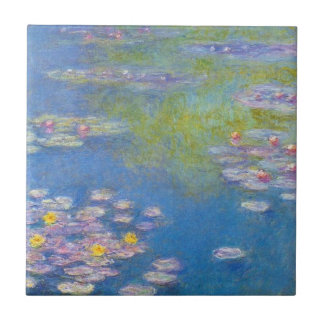 Monet Yellow Water Lilies Tile