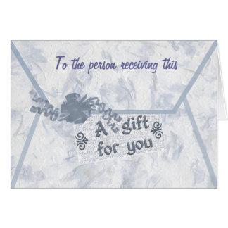 Monetary Gift Enclosure Card