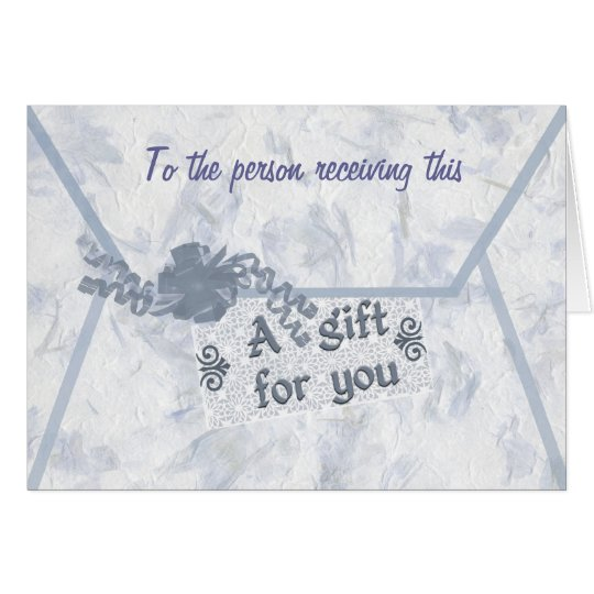 Monetary Gift Enclosure Card