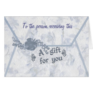 Monetary Gift Enclosure Greeting Card