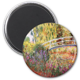 Monet's Bridge and Flowers Magnet