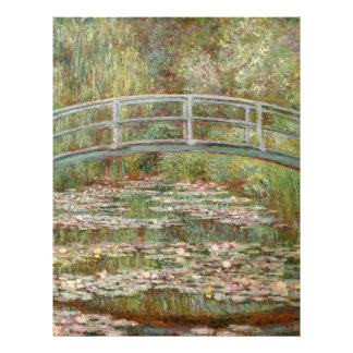 "Monet's ""Bridge Over a Pond of Water Lilies"" 1899 21.5 Cm X 28 Cm Flyer"