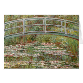 "Monet's ""Bridge Over a Pond of Water Lilies"" 1899 Card"