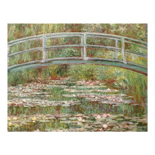 """Monet's """"Bridge Over a Pond of Water Lilies"""" 1899 Flyers"""