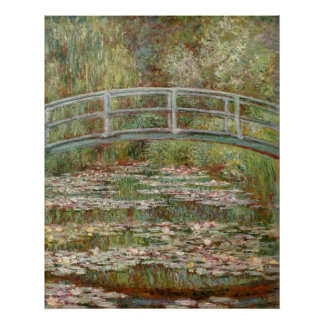"""Monet's """"Bridge Over a Pond of Water Lilies"""" 1899 Poster"""