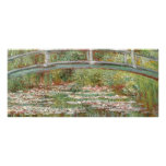 "Monet's ""Bridge Over a Pond of Water Lilies"" 1899 Rack Card Design"