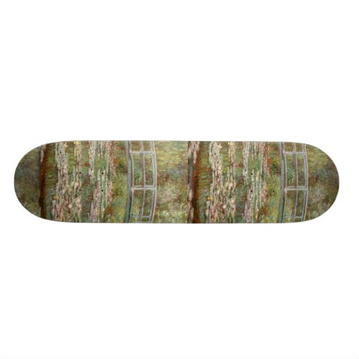 "Monet's ""Bridge Over a Pond of Water Lilies"" 1899 Skateboards"