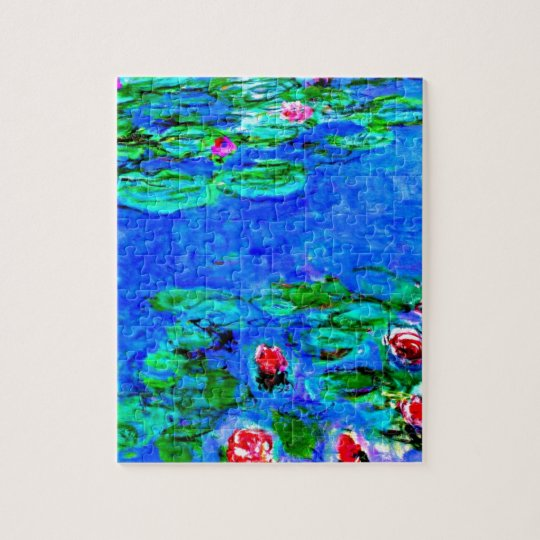Monet's famous painting, Water Lilies (macro view) Jigsaw