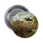 Monet's Garden at Argenteuil by Claude Monet 6 Cm Round Badge