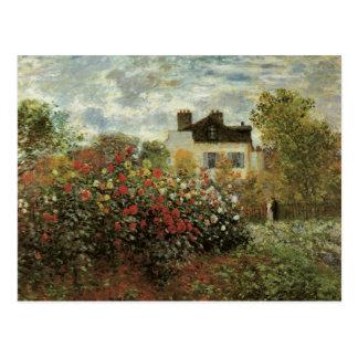 Monet's Garden at Argenteuil by Claude Monet Postcard