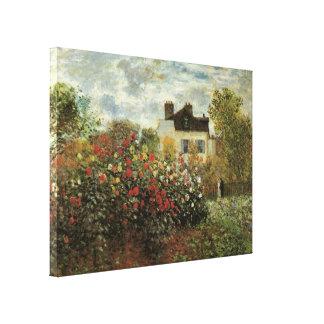 Monet's Garden at Argenteuil Vintage Impressionism Gallery Wrap Canvas