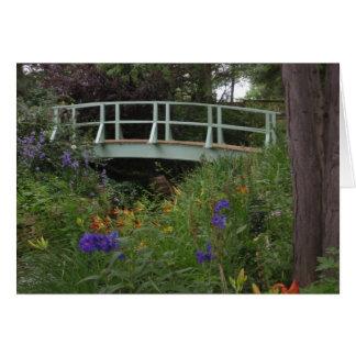 Monet's Garden Bridge Note Card