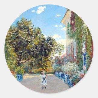 Monet's Garden Classic Round Sticker
