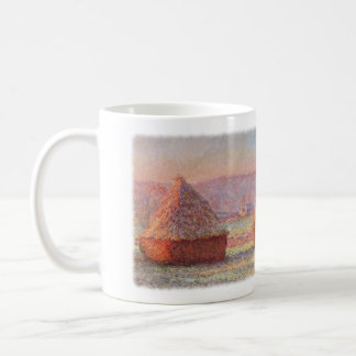 Monet's Haystacks, White Frost, Sunrise Coffee Mug