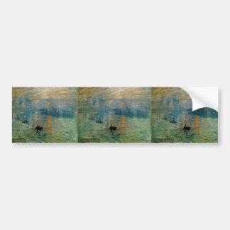 Monet's Impression Sunrise (soleil levant) - 1872 Car Bumper Sticker